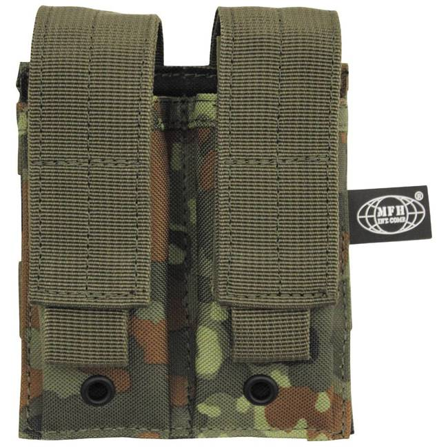 "Ammo Pouch, double, ""Molle"", small, BW camo"