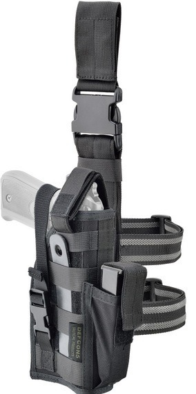 DEFCON 5 BAG, LEG HOLSTER - black