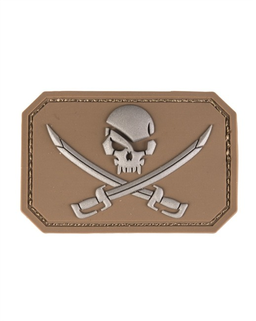 DK.COY.PVC SKULL W.SWORDS 3D PATCH W.HOOK&LOOP CL.