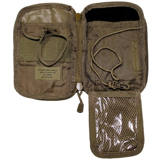 "Document Bag, ""MOLLE"" small, coyote tan"