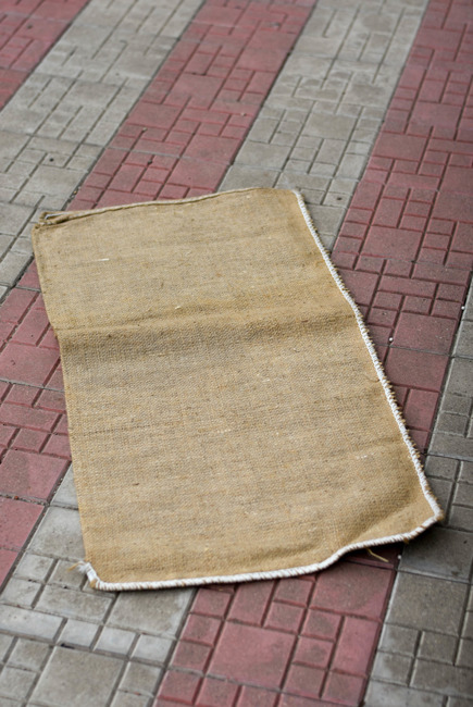 Non-personalized jute sack  - Romanian Army Surplus