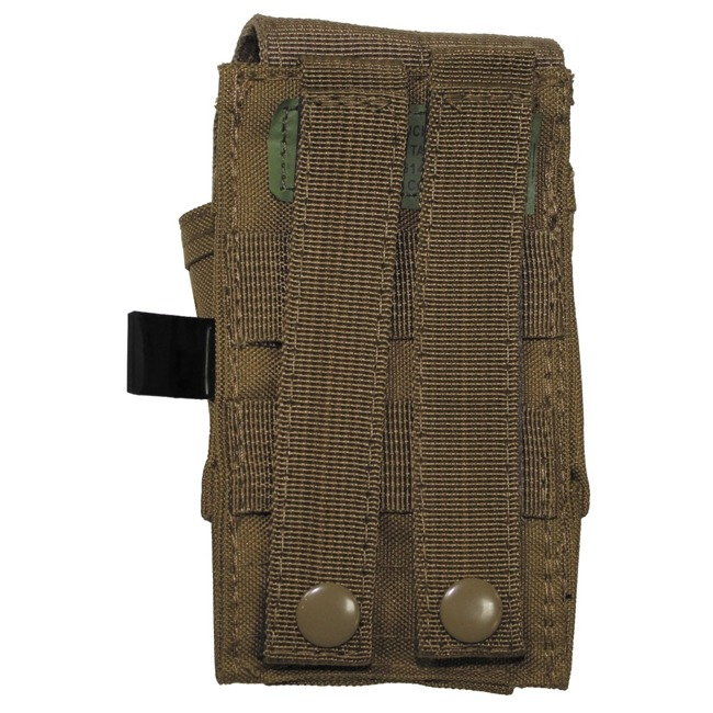"Single Ammu Pouch, ""Molle"", small, coyote tan"
