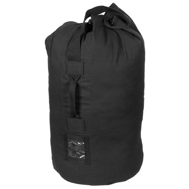 US Duffel Bag, black, with carrying strap
