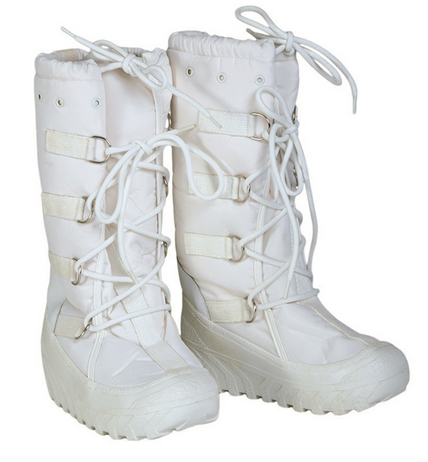 Italian White Snow Boots Like New