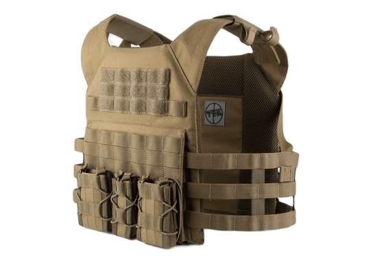 Mellény ODIN Plate Carrier Coyote Single Curved Hi-Protect Pro