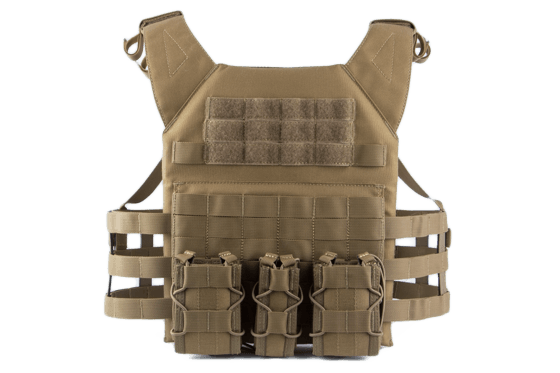 Mellény ODIN Plate Carrier Coyote Single Curved Multi-Use