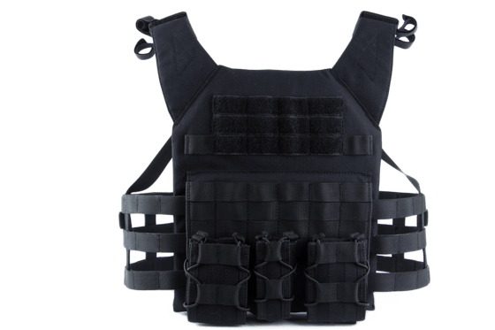 Mellény ODIN Plate Carrier fekete Single Curved Hi-Protect Pro