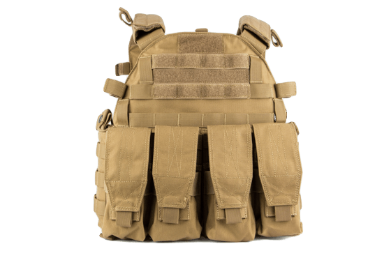 Mellény THOR Armor Carrier Vest Coyote IIIA + Hi-Protect Pro SC