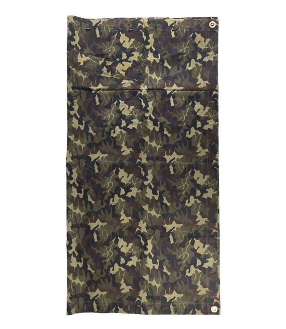 "Military Tent Tarpaulin, woodland ""mozaic"" camo, Romanian Army Surplus"