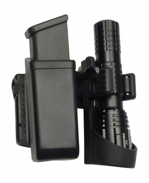 Pisztolytáska Double Swivelling Holster For Magazine And Flashlight